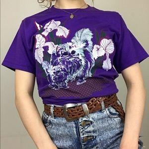 Vintage 90s Persian Cats Las Vegas Purple T-Shirt